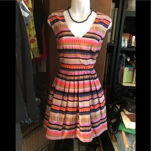 FOREVER 21- COLORFUL STRIPED DRESS